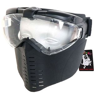 SHENKEL 眼鏡と併用が可能 ファン付 フェイスゴーグル フェイスマスク BK mask-010bk|o-k-you