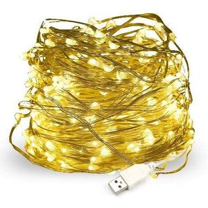 Salcar USB式 LEDイルミネーションライト 銅線ワイヤーライト 10m LED100 球 電飾 飾り付け フェアリーライト LEDストリング o-k-you