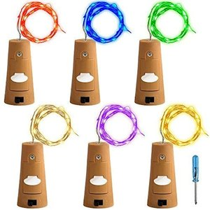 6個セット コルクライト AFUNTA 78インチ / 2 m ナイトライト 文字列ライト ボトルライト LED ライト LEDストリングライト イル o-k-you