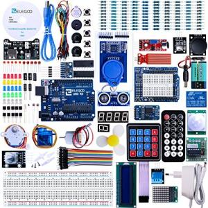 ELEGOO Arduino用のUNO R3 最終版スタータキット UNOチュートリアル付 (63 Items)|o-k-you