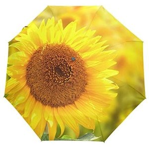 バララ(La Rose) 折り畳み傘 ワンタッチ 自動開閉 軽量 日傘 uvカット 雨傘 折りたたみ 晴雨兼用 かわいい 花柄 ヒマワリ ひまわり o-k-you