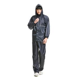 レインコート ランバオシー 上下セット レインウェア レインスーツ メンズ 登山 薄手 防水 耐久 フードひも付き 反射帯 カッパ 大きいサイズ 男女 o-k-you