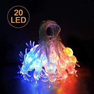 iitrust ハロウィン 飾り 蜘蛛 電池式 LED 2M 20球 2モード点灯 スパイダー ストリングライト ハロウィン LED イルミネーション o-k-you