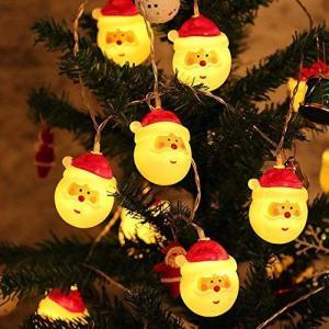 TopYart サンタさん 装飾 ledライト イルミネーションライト 可愛いサンタクロースデザイン 電池式 20電球 3m クリスマス 電飾 屋内  o-k-you