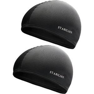 STABILIST インナーキャップ ヘルメット 蒸れ 吸汗 速乾 汗取り フリーサイズ サイクリング 2枚組 ドライ フィット 消臭 抗菌 ビーニー|o-k-you