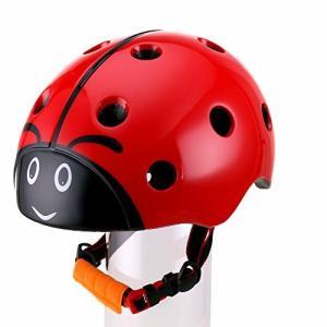 DRBIKE 子供用 ヘルメット 小学生 自転車 キッズ こども てんとう虫 高剛性 サイクリング ガールズ ボーイズ o-k-you