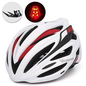 VICTGOAL 自転車 ヘルメット大人用 ロードバイク/サイクリング ヘルメット 超軽量 高剛性 LEDライト・男女兼用 ヘルメット通気 サイズ調整|o-k-you