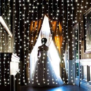 【水中にも適用】AGPtEK 3M×3M/300 LEDカーテンライト USB給電式 8 点滅 パターン結婚式、学園祭、誕生会、ハロウィーン、クリスマ o-k-you