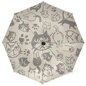 SoreSore(ソレソレ)日傘 uvカット折りたたみ 晴雨兼用 遮光 折りたたみ傘 ワンタッチ 自動開閉 軽量 レディース 猫 猫柄 ネコ 大きい o-k-you