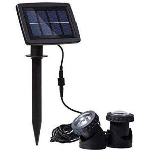 ガーデンライト ソーラーライト 屋外 スポットライト 水中ライト LED IP68防水 水陸両用 高輝度 太陽光発電 分離式 2点式 防犯対策 15メ o-k-you