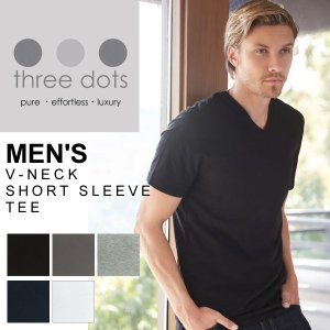 three dots スリードッツ Tシャツ カットソー 定番 人気 タートル ネック フィット感 ...