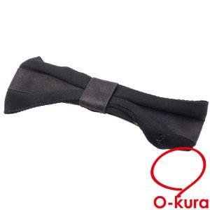 シャネル バレッタ レディース ブラック 黒 シルク 絹 17B ココマーク ヘアアクセサリー リボン 中古 o-kura