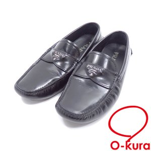 プラダ ローファー レディース レザー ネロ ブラック 黒 サイズ5 1/2 古着 アパレル 靴 中古|o-kura