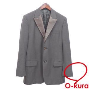 ルイ ヴィトン テーラード ジャケット メンズ グレー ブラウン サイズ48 長袖 シングル 2つボタン 古着 アパレル 洋服 中古|o-kura
