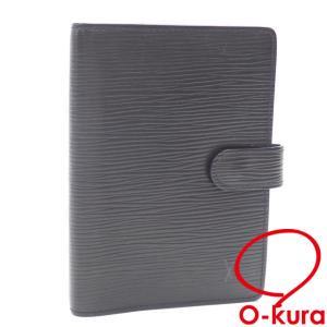 値下げしました ルイ ヴィトン 手帳カバー エピ アジェンダ PM R29952 ノワール ブラック システム手帳 レディース メンズ 中古|o-kura