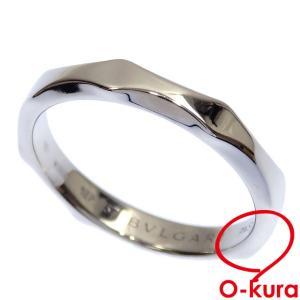 値下げしました ブルガリ フェディ リング Pt950 16号 5.9g プラチナ レディース メンズ 指輪 中古|o-kura
