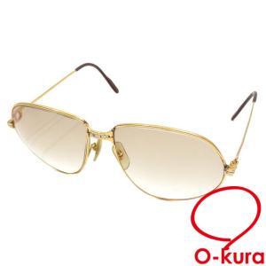 カルティエ サングラス メンズ ゴールド 金色 GP アイウェア 眼鏡 メガネ 中古|o-kura