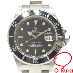 ロレックス ROLEX サブマリーナ メンズ 16610 オートマ Y番 2002年頃製 SS 腕時計 自動巻き ブラック文字盤 中古 o-kura