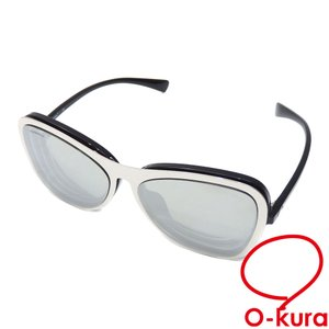 シャネル クリップオン サングラス 度入り レディース シルバー ブラック プラスチック 眼鏡 メガネ アイウェア マグネット ココマーク 中古 o-kura