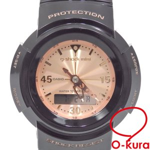 カシオ 腕時計 G-SHOCK mini メンズ クォーツ 樹脂 5416 電池式 ブラック 黒 Gショック ジーショック ミニ アナデジ 中古|o-kura
