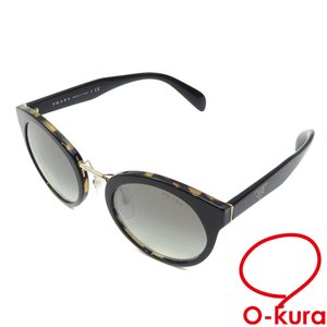 プラダ サングラス メンズ ブラック 黒 プラスチック 眼鏡 メガネ アイウェア 中古|o-kura
