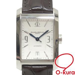 ボーム&メルシェ 腕時計 ハンプトン クラシック メンズ オートマ SS 革ベルト M0A08822 自動巻き 機械式 中古|o-kura