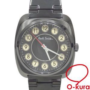 ポールスミス 腕時計 メンズ クォーツ SS BT2-947-51 電池式 ブラック 黒 メンズウォッチ 中古 未使用品|o-kura