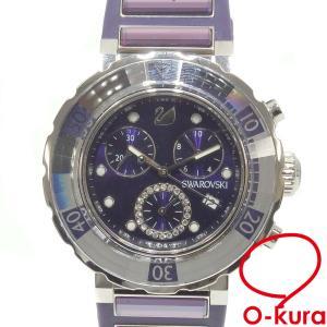 スワロフスキー 腕時計 オクティアスポーツ レディース クォーツ SS ラバーベルト 1088675 電池式  中古|o-kura