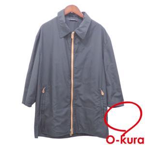 エルメス ステンカラー ブルゾン メンズ ポリエステル 長袖 ブラック 黒 サイズ50 アウター ジャケット 古着 アパレル 中古|o-kura