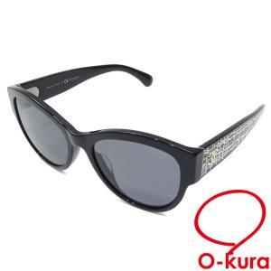 値下げしました シャネル サングラス レディース ブラック 黒 プラスチック 5434-A 眼鏡 メガネ アイウェア ココマーク 中古 o-kura