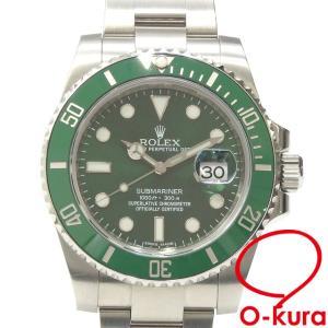 ロレックス ROLEX サブマリーナ デイト メンズ 116610LV オートマ ランダム番 SS 腕時計 自動巻き 緑サブ グリーンサブ 中古 o-kura