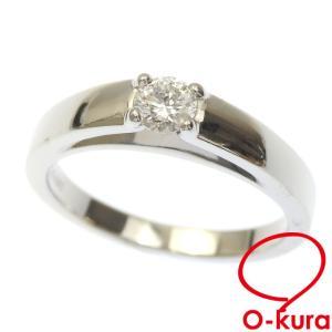 ブルガリ ダイヤモンド リング レディース Pt950 10号 0.20ct 5.6g 指輪 プラチナ 中古|o-kura