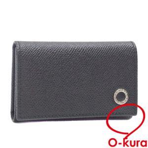 ブルガリ 6連 キーケース メンズ ブラック 黒 レザー 282234 鍵入れ 革 中古 未使用品|o-kura