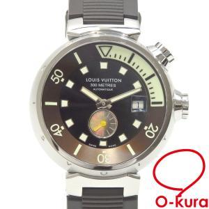 ルイ ヴィトン 腕時計 タンブール ダイビング メンズ オートマ SS ラバーベルト Q1031 自動巻き 中古|o-kura