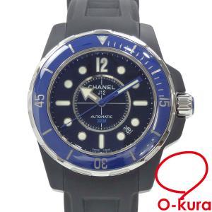 シャネル 腕時計 J12 マリーン 42 メンズ オートマ セラミック ラバー H2559 自動巻き ブラック 黒 中古|o-kura