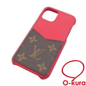 ルイ ヴィトン iPhone ケース モノグラム IPHONE バンパー 11 PRO M69095 スカーレット レッド 赤 カバー 中古|o-kura