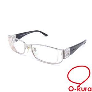 ブルガリ メガネフレーム 度入り レディース ブラック 黒 プラスチック ラインストーン 眼鏡 アイウェア 中古|o-kura