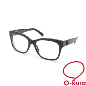 シャネル メガネフレーム 度入り レディース ブラック 黒 プラスチック 3347-A アイウェア 眼鏡 ココマーク ウェリントン 中古 o-kura