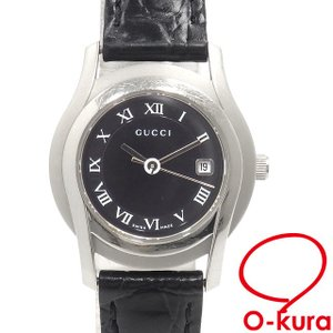 1fe3529c3ada 【値下げしました】 中古 グッチ 腕時計 レディース クォーツ SS 革ベルト