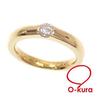 値下げしました ダイヤモンド デザイン リング レディース K18YG 8号 0.18ct 4.8g 指輪 18金 イエローゴールド 750 中古|o-kura