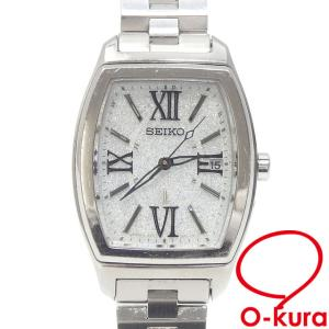 セイコー 腕時計 ルキア レディース ソーラー SS 1B22-0AP0 光充電式 ラメ グリッター 中古 o-kura