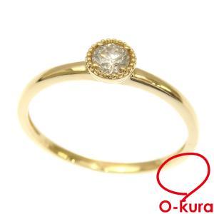 ダイヤモンド リング レディース K18YG 8号 0.15ct 1.2g 指輪 750 18金 イエローゴールド 中古 o-kura