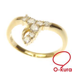 ダイヤモンド リング レディース K18YG 10.5号 0.30ct 2.4g 指輪 750 18金 イエローゴールド 中古 o-kura