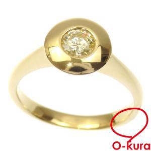 ダイヤモンド リング レディース K18YG 12.5号 0.303ct 4.1g 指輪 750 18金 イエローゴールド 一粒 中古 o-kura