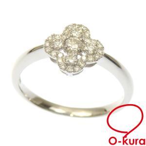 ダイヤモンド リング レディース Pt900 12号 0.08ct/0.22ct 3.4g 指輪 プラチナ 中古 o-kura