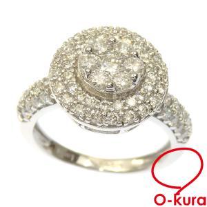 ダイヤモンド リング レディース K18WG 12.5号 1.250ct 6.5g 指輪 750 18金 ホワイトゴールド 中古 o-kura