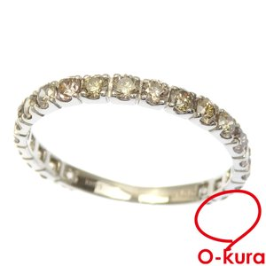 ダイヤモンド リング レディース K18WG 18号 1.00ct 1.4g 指輪 750 18金 ホワイトゴールド 中古 o-kura
