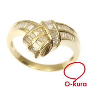 ダイヤモンド リング レディース K18YG 13.5号 0.55ct 4.7g 指輪 750 18金 イエローゴールド 中古 o-kura