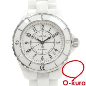 中古 シャネル 腕時計 J12 メンズ オートマ セラミック