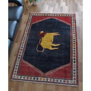 ギャッベ ギャベ/カシュガイ、絨毯のような細かな織、リビングサイズ 196×128cm